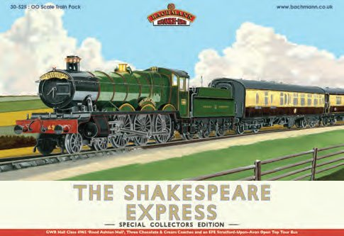 Bachmann Europe 30-525 the Shakespeare Express Pack OO Scale Model Train Set