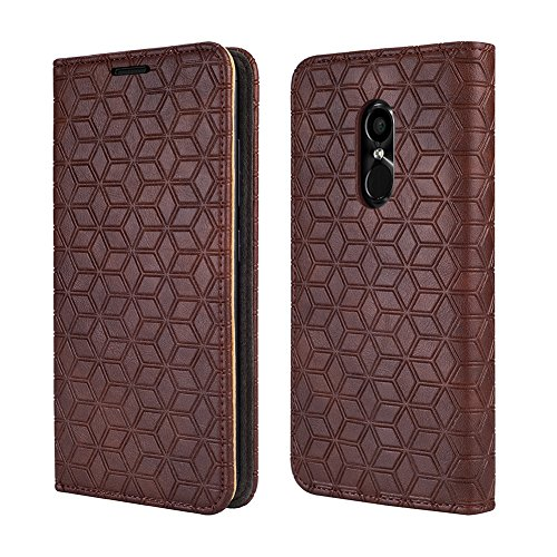 BLU Pure View Case, [Kickstand] [Card Slot+Side Pocket] Premium Soft PU Color Matching Leather Wallet Cover Flip Case Protective Case for BLU Pure View (Brown)