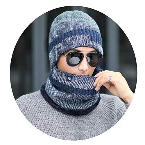 Simple Winter Hat Winter Beanies for Men Women Wool Scarf Caps Balaclava Mask,2,55-60cm
