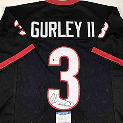 buy popular 8d9f5 a3fc7 Autographed/Signed Todd Gurley Georgia Black College ...