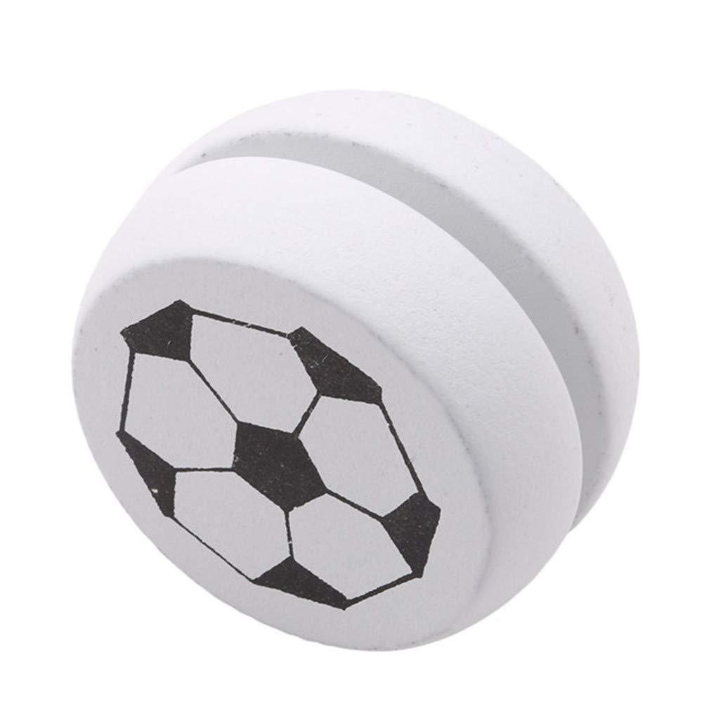Li-ly Qualit/é Premium Yo Yo Jouets Blanc Football Motif en Bois Yoyos Responsive pour Les D/ébutants Enfants Jouet Vitesse Balle Retour pour Les Cadeaux
