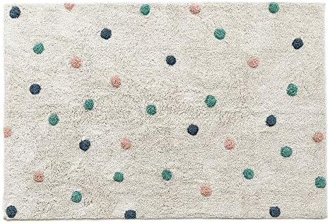 Kenay Home Alfombra Decorativa Infantil Blanca Lavable Dots 100x150 cm (LargoxAncho), Algodón: Amazon.es: Juguetes y juegos