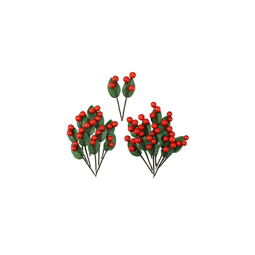 Shxstore-Artificial-Red-Holly-Leaves-Berry-Picks-Stems-Fake-Winter-Christmas-Berries-Decor-For-DIY-Garland-And-Holiday-Wreath-Ornaments-24-Branch