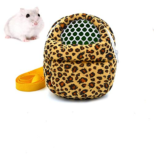 Pet Carrier Bag Hamster Portable Breathable Bonding Pouch Outgoing Sleeping Bag for Sugar Glider Guinea Pig Hedgehog Pygmy Mouse Squirrel