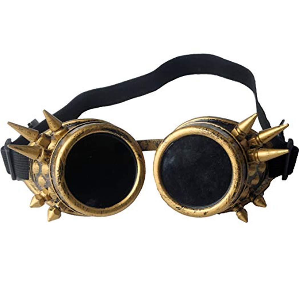 NewYork Offer Shop Halloween Steampunk Goggles Retro Welding Goth Cosplay Goggles Halloween Accessories