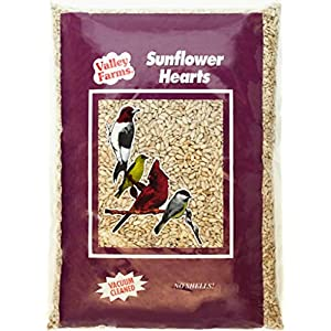 Valley Farms Sunflower Hearts Wild Bird Food – 4 LBS