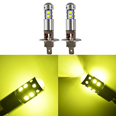 2pcs H1 3000K Yellow 100W High Power LED Fog Light Driving Bulb DRL: Automotive