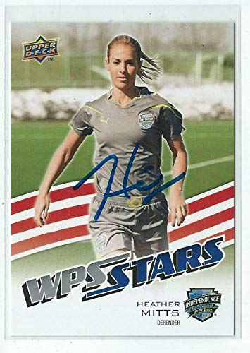 (Heather Mitts Signed 2010 WPS Stars Womens Soccer Card #196 - Upper Deck Certified - Unsigned Soccer Cards)