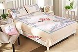 Auvoau Reversible Bohemian Real Patchwork Cotton Quilt Bedspread Set Boho Patchwork Quilt Set,Queen,3-Pieces (Queen, 2)