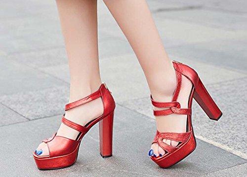 Open Mujer de Zapatos para Plataforma Toe Tac Sandalias qv4pSFn