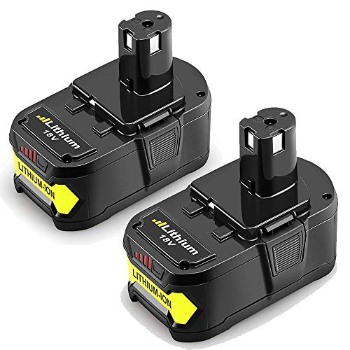 2Packs 18V 6.0Ah Replacement Battery for Ryobi Lithium Ion ONE+ Plus P102 P103 P104 P105 P107 P108 P109 P122 Cordless Power Tools