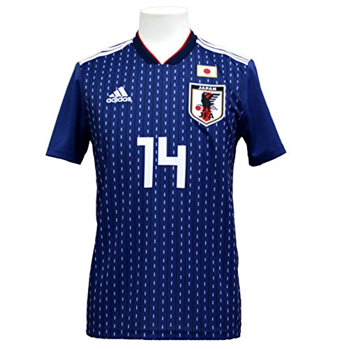 レルム思春期放映アディダス サッカー日本代表 2018 ホームレプリカユニフォーム半袖 14.乾貴士 cv5638