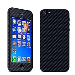 DiaMini iPhone 4 /4S Full Body Carbon Fibre Wrap Decal Skin Sticker Protector (for Iphone 4/4S Black)