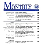 img - for American Mathematical Monthly : Articles- Prime Number Patterns; Elementary Proof of Marden's Theorem; Hermite-Hadamard Inequality on Simplices; Convex Polygon; Caratheodory & Kobayashi Metrics book / textbook / text book