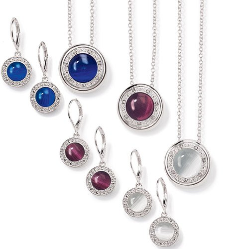Avon Alluring Necklace and Earrings Gift Set Blue