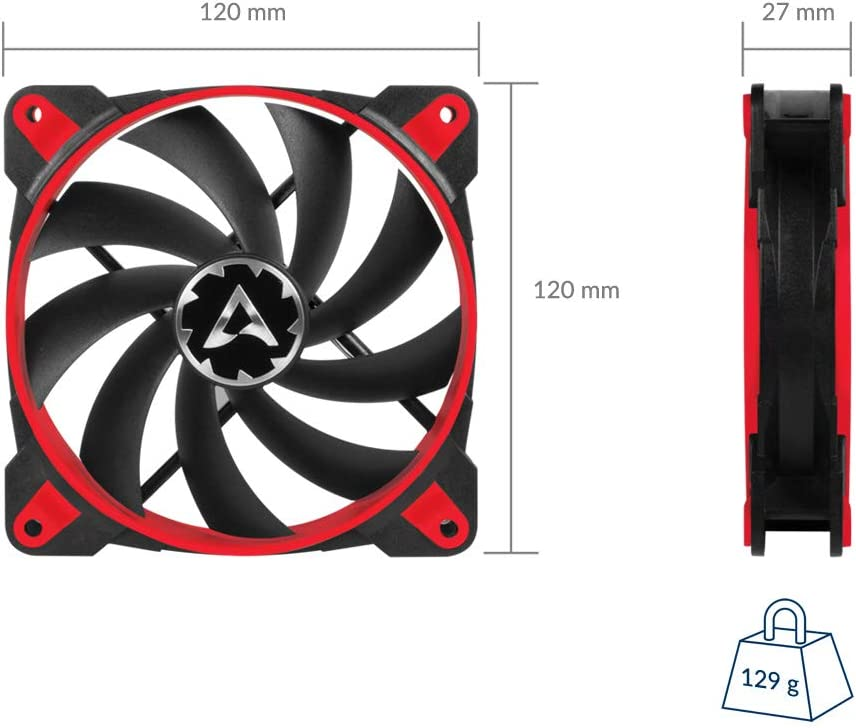 Grey//White Regulates RPM in sync ACFAN00162A ARCTIC BioniX F140-140 mm Gaming Case Fan with PWM PST PWM Sharing Technology Cooling Fan with PST-Port