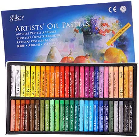 jiheousty 48 Farben Ölpastell für Künstlerschüler Graffiti Weichpastellmalerei Zeichenstift Schulbriefpapier