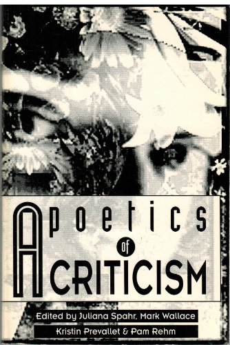 A poetics of criticism