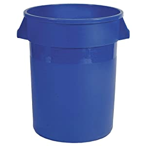 Food-Grade Waste Container, 55 gal, Bl