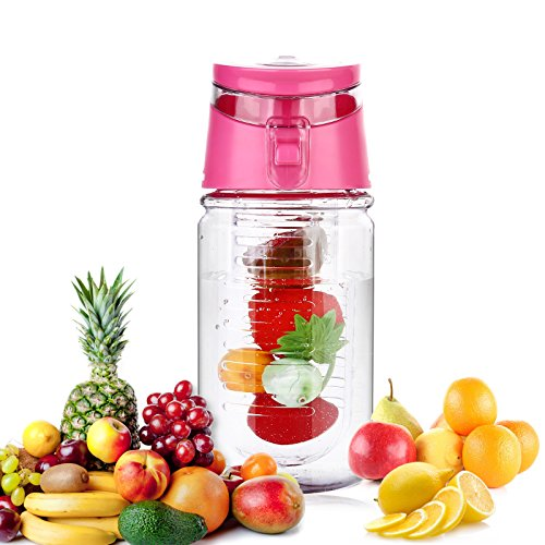 Weshine Flavor it 16 Ounce Kid infuser water bottle(Dark Pink)