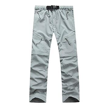 LuckyGirls Pantalones Cargo para Hombre Secado Rapido Desmontable Deportivos Chándal Pants: Amazon.es: Deportes y aire libre