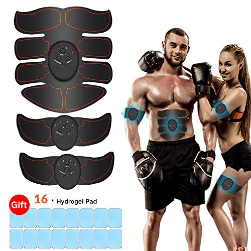 iThrough ABS Stimulator, Abdominal Muscle Trainer EMS Muscle Toner for Men/Women - Losing Weight Building Muscle Fitness Training Equipment for Abdomen, Waist, Arms, Thighs, Calves, etc