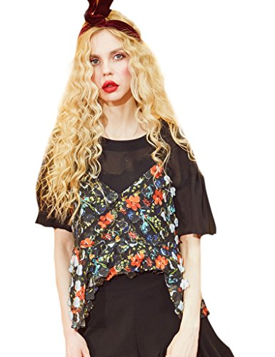 [Elf Sack Summer Ladies Spaghetti Strap Shirt Outfits Black Medium] (Elf Outfit For Women)