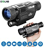 ESSLNB Night Vision Monocular 5X40 Night Vision Infrared IR Camera HD Digital Night Vision Scopes with 1.5' TFT LCD Take Photos and Video Playback Function and TF Card for Hunting Security Surveilla
