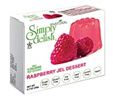 Simply delish Natural Raspberry Jel Dessert, Sugar free, 0.7 oz., 24-6 packs – Fat Free, Gluten Free, Lactose Free, Non GMO, Kosher, Halal, Dairy Free, Natural