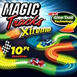Ontel Magic Tracks Xtreme with Race Car & 10' of Flexible, Bendable Glow In The Dark Racetrack, As seen On Tv