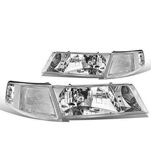 - DNA Motoring Chrome clear HL-OH-065-CH-CL1 Pair of Headlight Assembly [for 98-02 Mercury Grand Marquis]