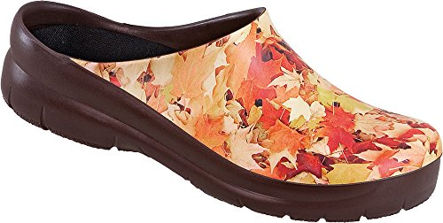 Clogs Zuecos Picture Marrón Para Mujer Tp88wvqH