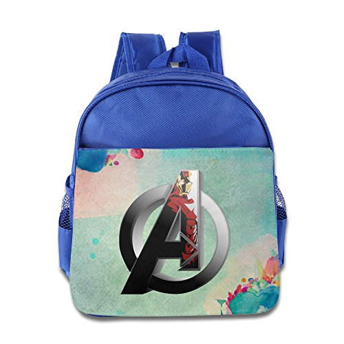 Age Of Ultron Quicksilver Costume (BERTHA Avengers Iron Man Pattern Backpack For Kids In Nursery RoyalBlue)