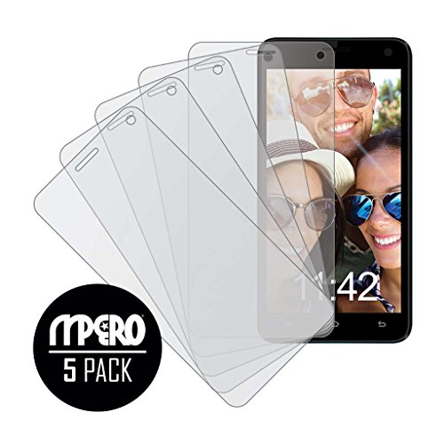 (Sky Devices 5.0W Screen Protector Cover, MPERO Collection 5-Pack of Matte Anti-Glare Screen Protectors for Sky Devices 5.0W)