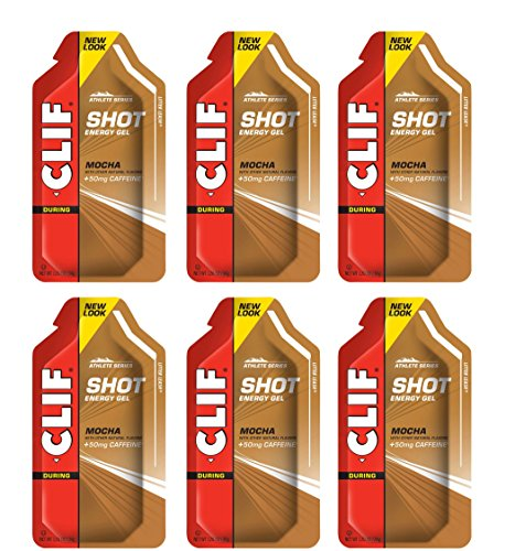 Clif Shot Gel - Mocha - 6 Pack (6 x 1.2oz Packs)