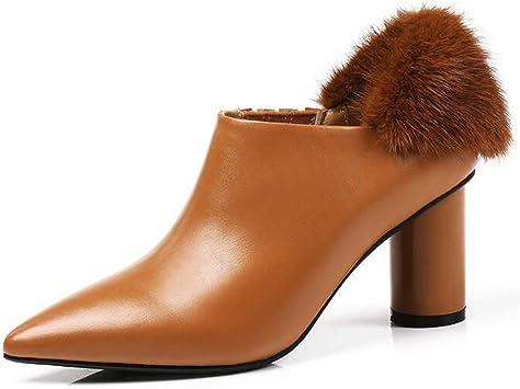 Hy Chaussures pour Femmes Bottes, Cuir A