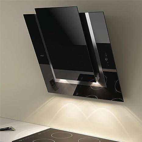 Elica Cappa cucina da parete, colore: nero, ICO 80 cm: Amazon.it ...