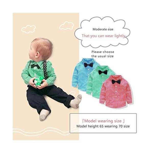 Yilaku Completini e Coordinati per Bambino 4 Pezzi Bambini Ragazzi Abbigliamento Set Camicia+Papillon+Pantaloni+Bretelle… 5