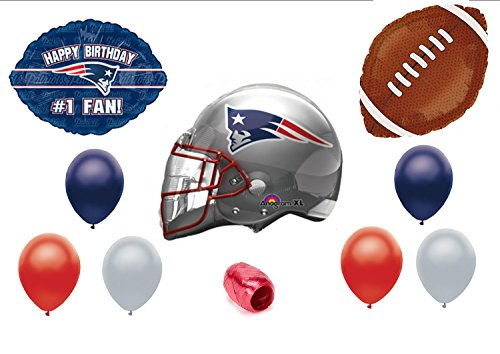 2933b05a New England Patriots #1 Fan Birthday Party Balloons Decorations Supplies