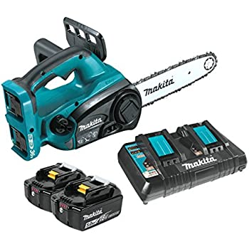 "Makita XCU02PT 18V X2 (36V) LXT Lithium-Ion (5.0Ah) Cordless 12"" Chain Saw Kit, Teal"