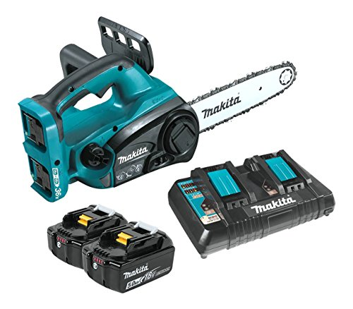 Makita XCU02PT 18V X2 (36V) LXT Lithium-Ion (5.0Ah) Cordless 12″ Chain Saw Kit, Teal
