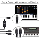 Fedlink MIDI to USB in-Out Cable Converter