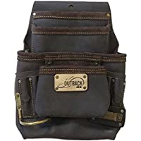 OX Tools 10 Pocket Nail and Tool/Fastener Pouch | Oil-Tanned Leather