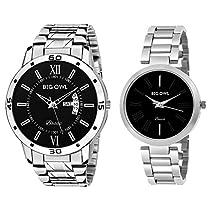 Bigowl Wrist Watch couple Combo For Men and Women MEN09-WOME
