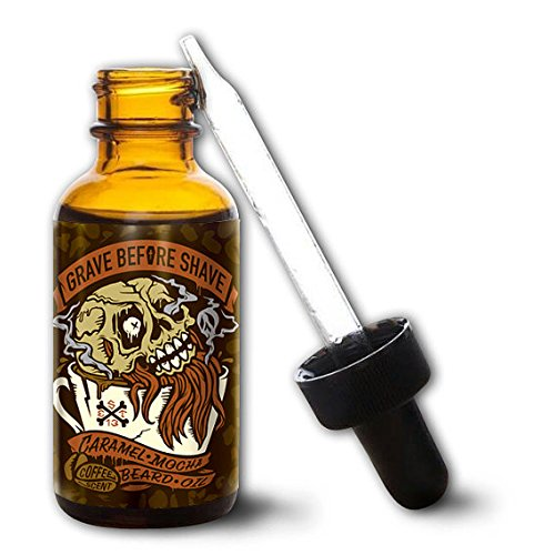 GRAVE BEFORE SHAVE Caramel Mocha Blend Beard Oil (Caramel Mocha Coffee scent)