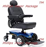 Pride Mobility - Jazzy Elite ES - Front-Wheel Drive Power Chair - Jazzy Blue - PHILLIPS POWER PACKAGE TM - TO $500 VALUE