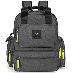 Baby Diaper Bag Backpack Waterproof Multifunctional Design for Mom/Dad Lots of Room Includes Stroller Straps Newborn Changing Pad Accessory Pouch
