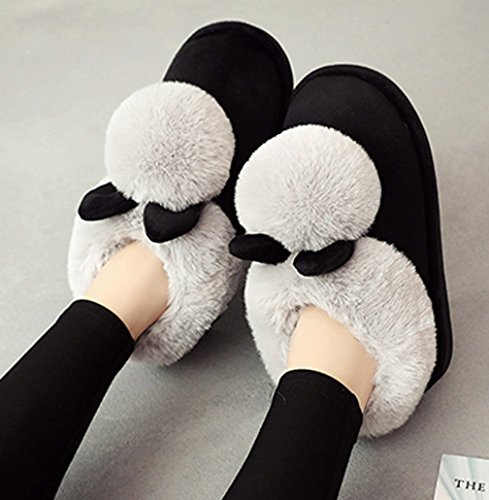 Cattior Womens Warm Bunny Pantofole Pantofole Per Esterni Indoor House Shoes Grigie