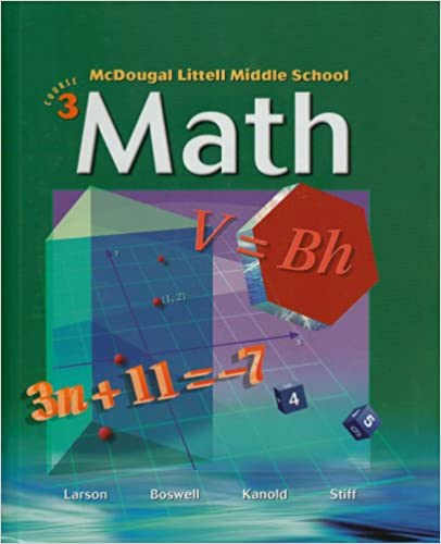 Mcdougal littell middle school math course 3 student edition mcdougal littell middle school math course 3 student edition 2005 2005 ron larson laurie boswell timothy kanold lee stiff 9780618508174 fandeluxe Images