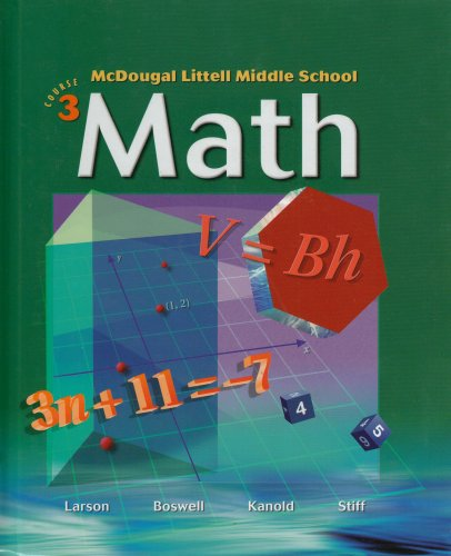 McDougal Littell Middle School Math, Course 3: Student Edition 2005 2005